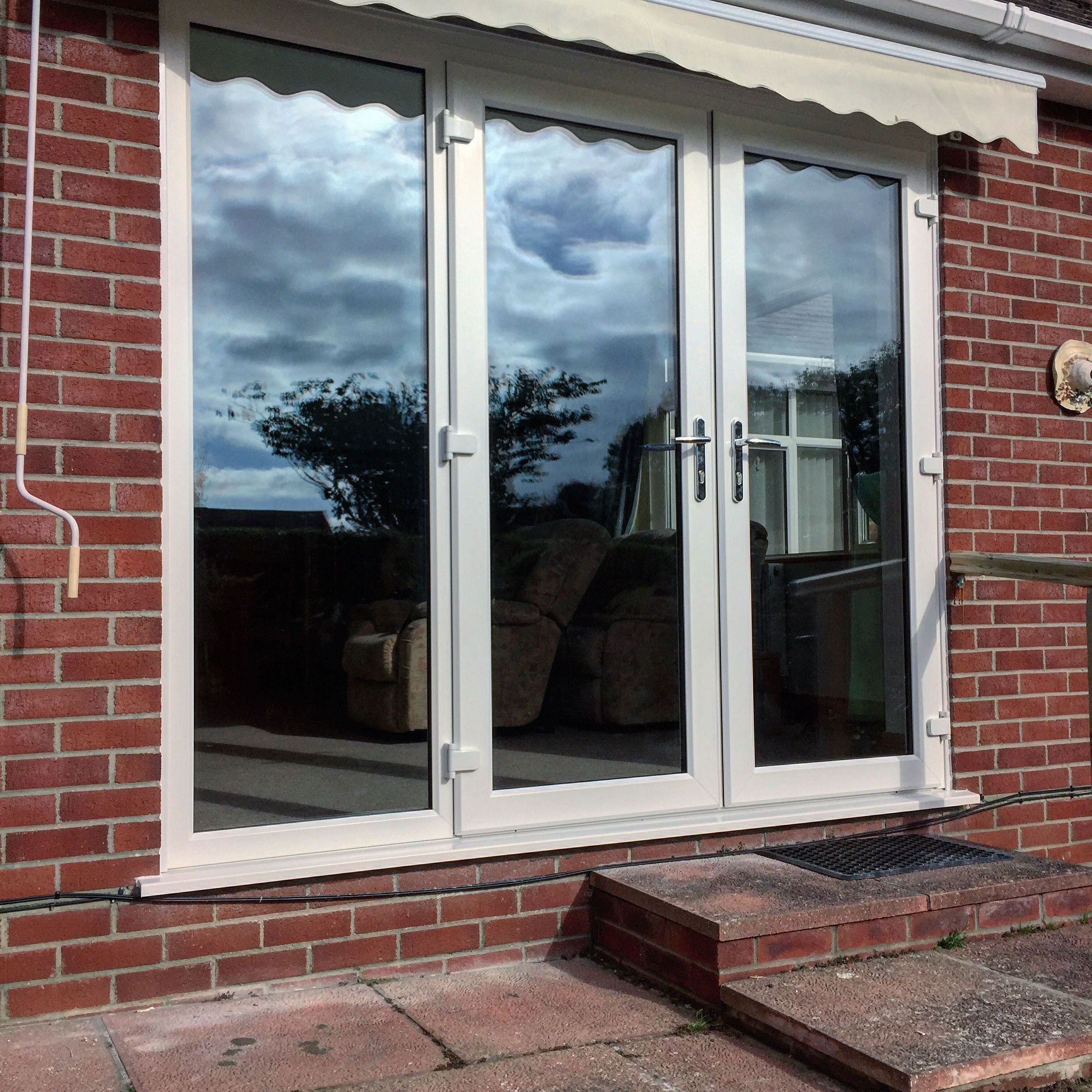 triple glazed upvc french door and side panel installed in