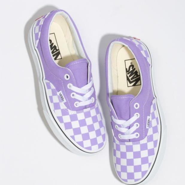 Checkerboard Era in 2020 | Purple vans, Slip on sneakers, Vans