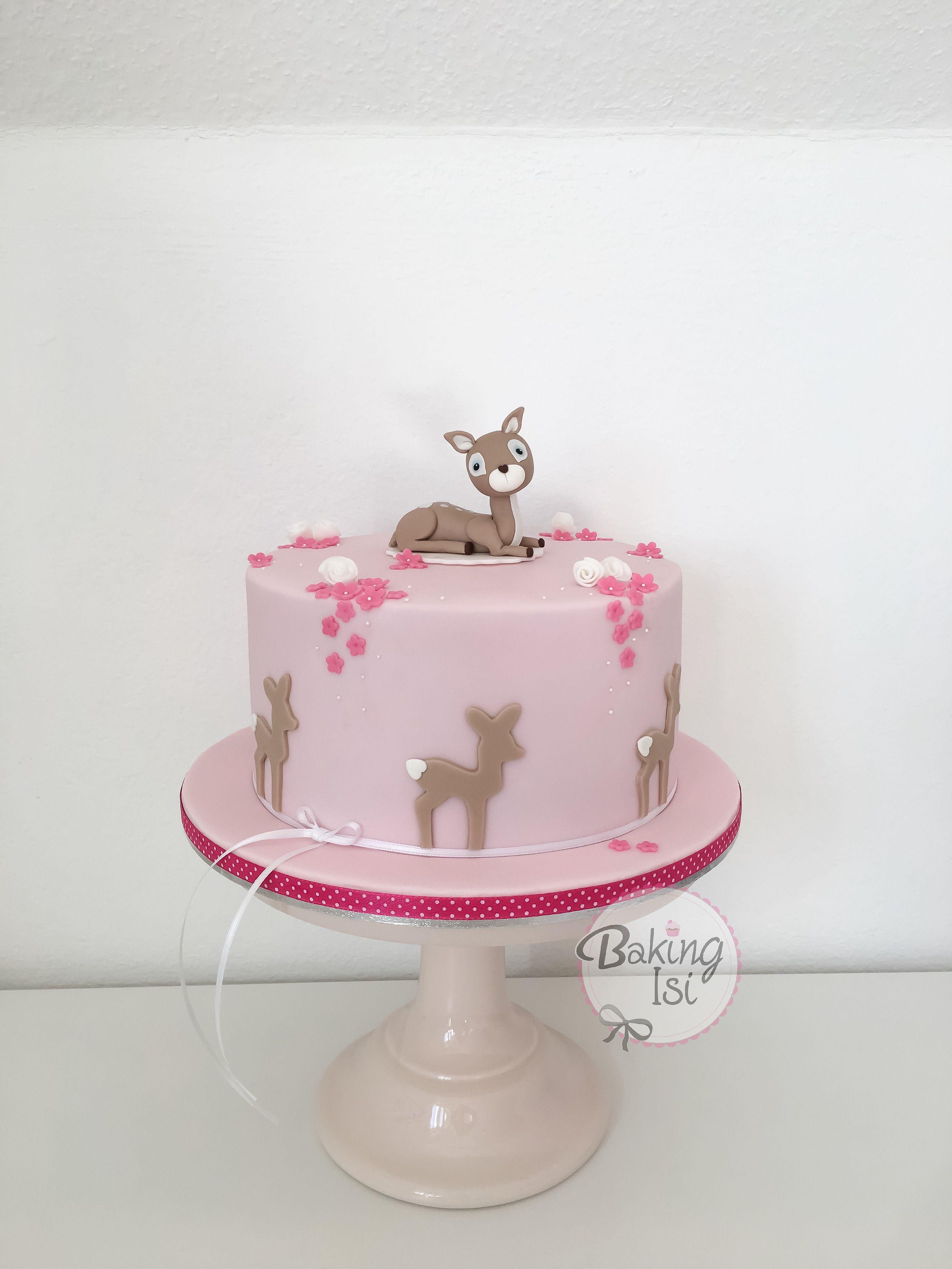 Bambi deer fawn reh cake Torte babyshower babyparty Baby