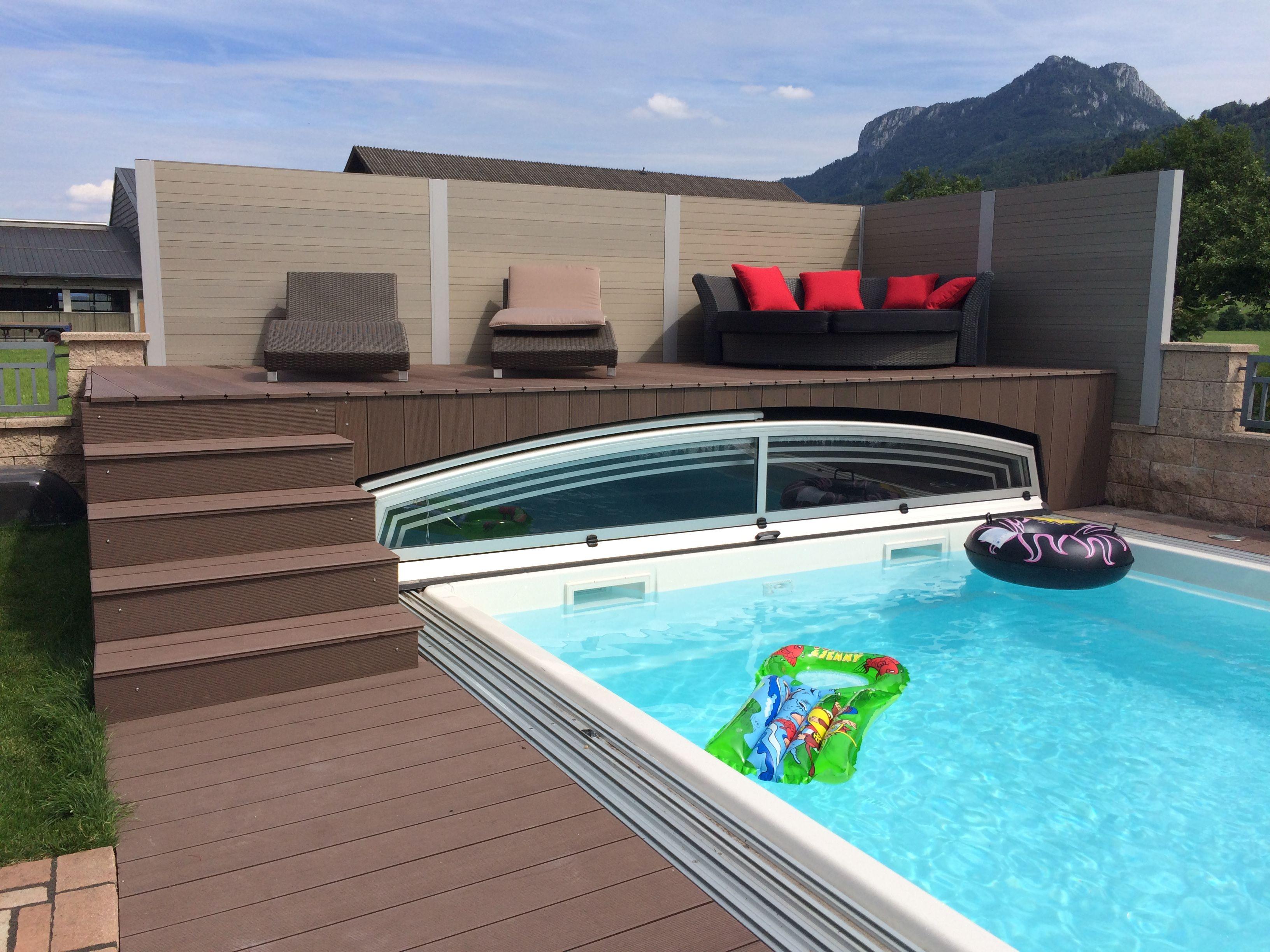 Montage von Terrassensystemen Klicksystem PVC Holz Unterkonstruktion aus Aluminium Beleuchtungssysteme Bodenbelag
