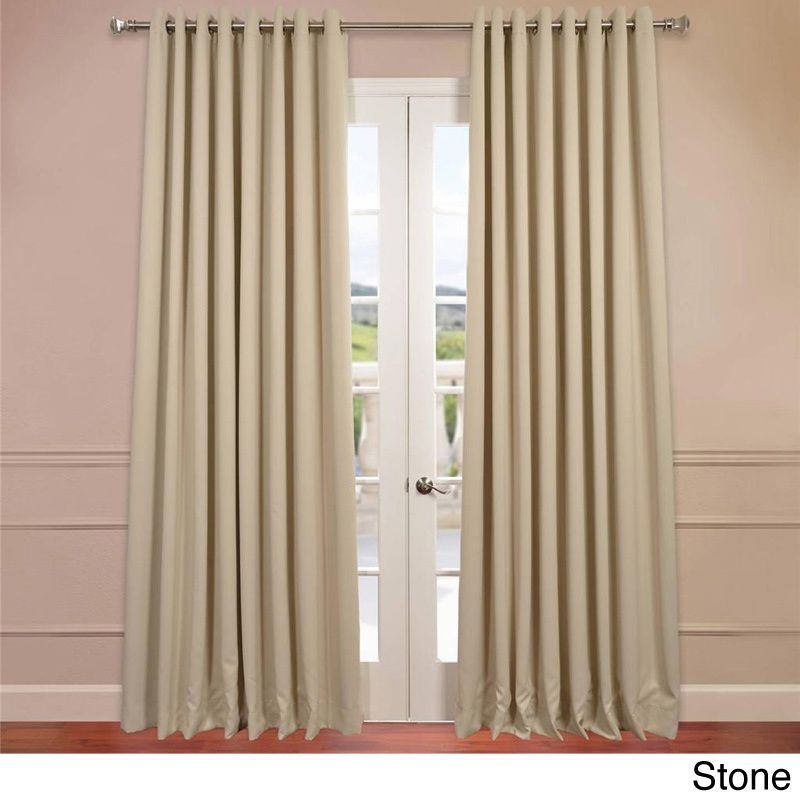 Exclusive Fabrics Extra Wide Thermal Blackout Grommet Top 120 Inch Curtain  Panel (Navy Blue), Size 120 X 100 (Polyester, Solid)