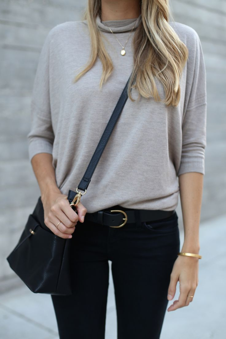 Lightweight turtleneck sweater for fall - Adorned With Love ...