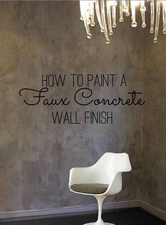 Diy home decor how to paint a faux concrete wall finish for What finish paint for bedroom