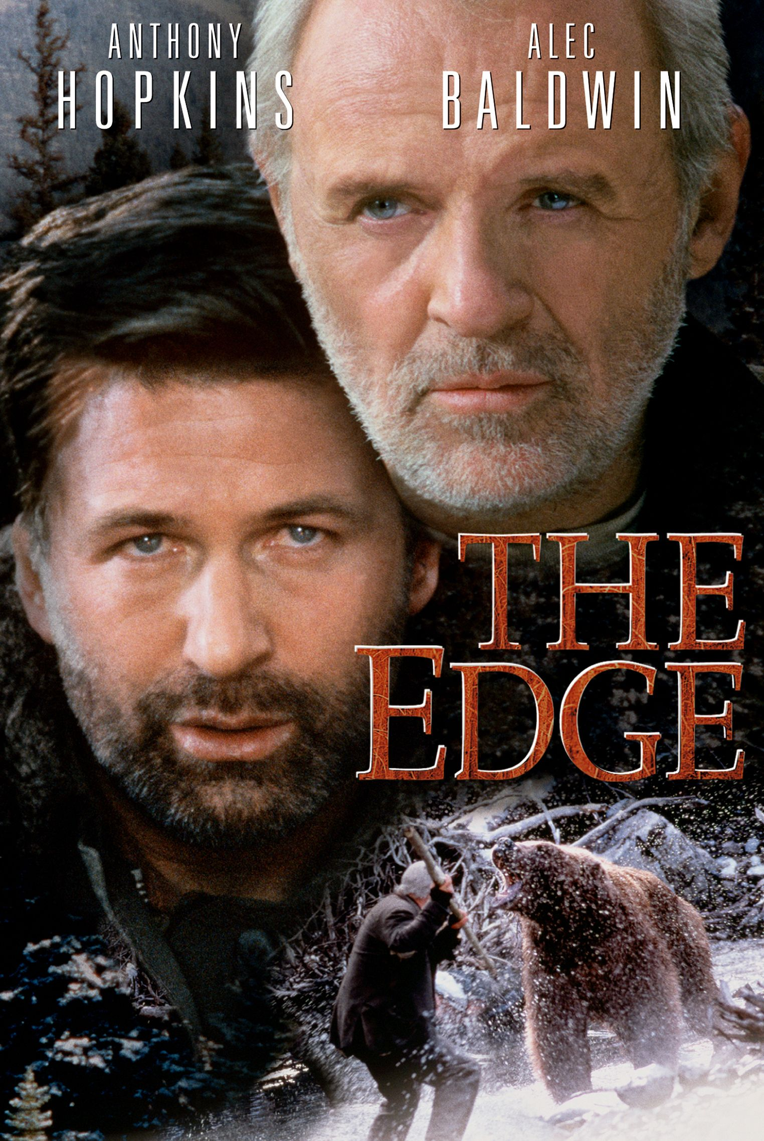 The Edge Movie Poster Anthony Hopkins, Alec Baldwin