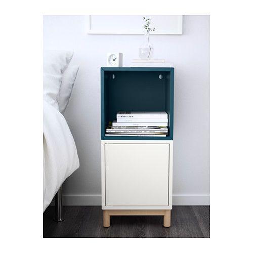 EKET Storage Combination With Legs, White, Dark Blue White/dark Blue