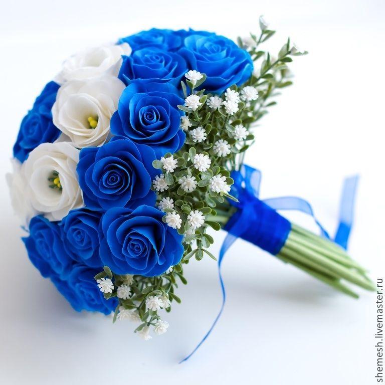 Букет из синих роз на свадьбу, букеты каталог букеты