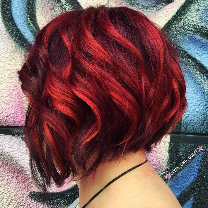image result for brown to burgundy ombre short hair hair