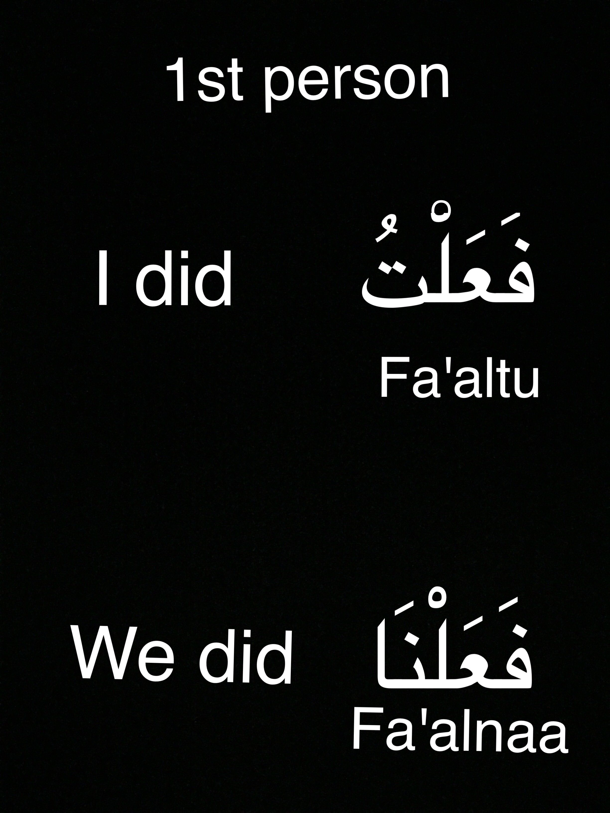 Arabic conjugation   learning arabic   Arabic verbs, Arabic