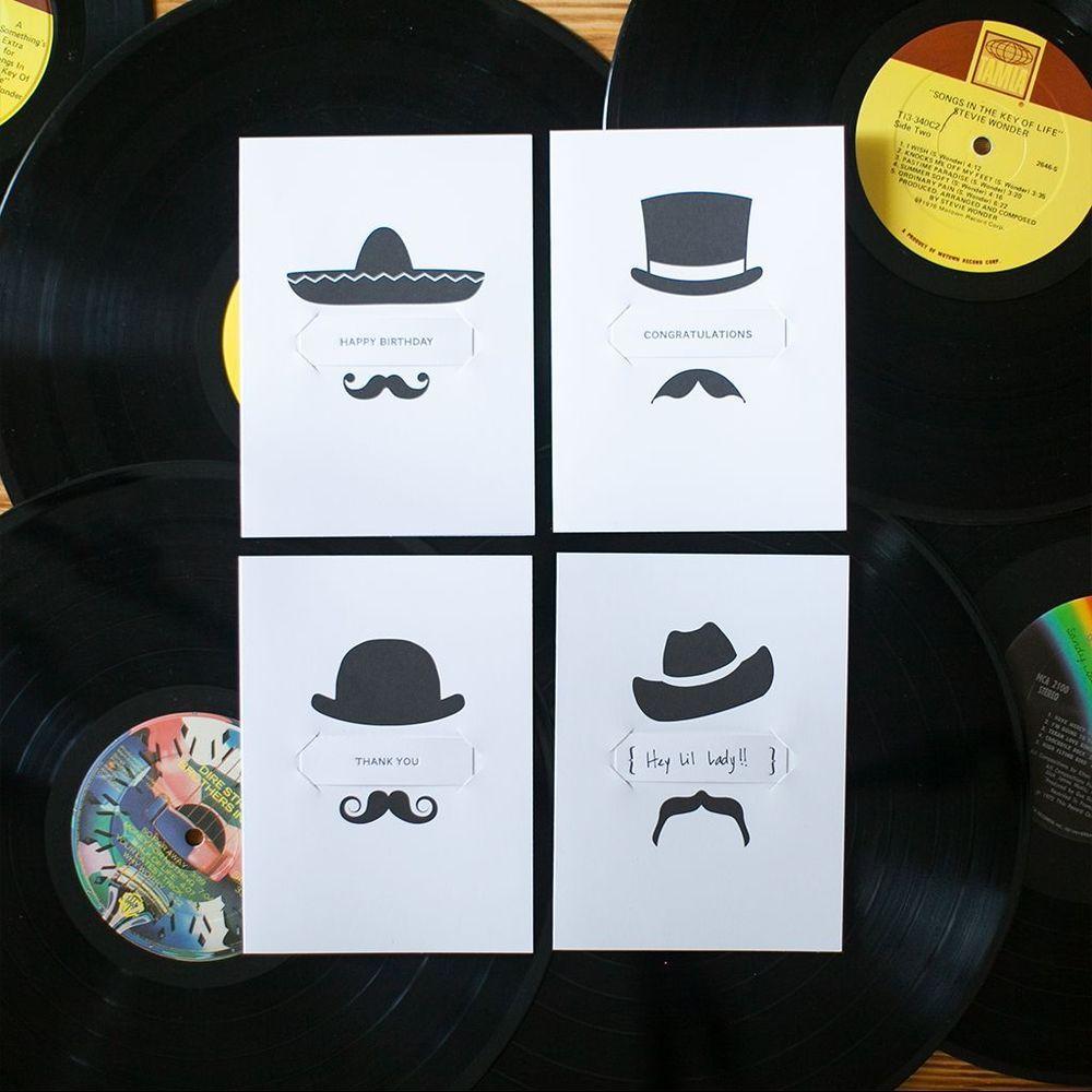 Pop In Greetings Mistaken For Strangers Mustache Box Set 8