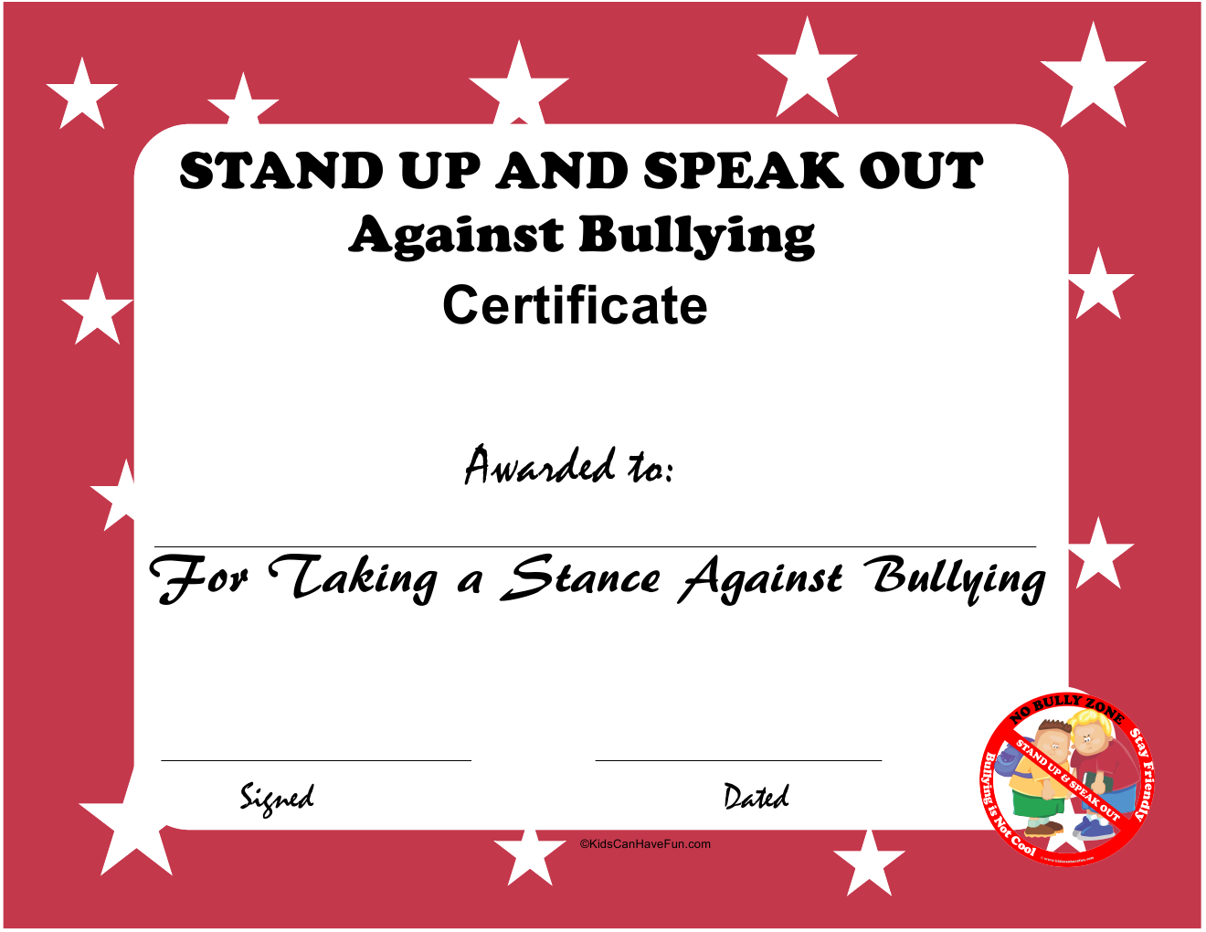 Uncategorized Anti Bullying Worksheets how to prevent bullying worksheet no dont bully anti stand up and speak out against certificate
