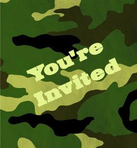 Camouflage Birthday Invitations