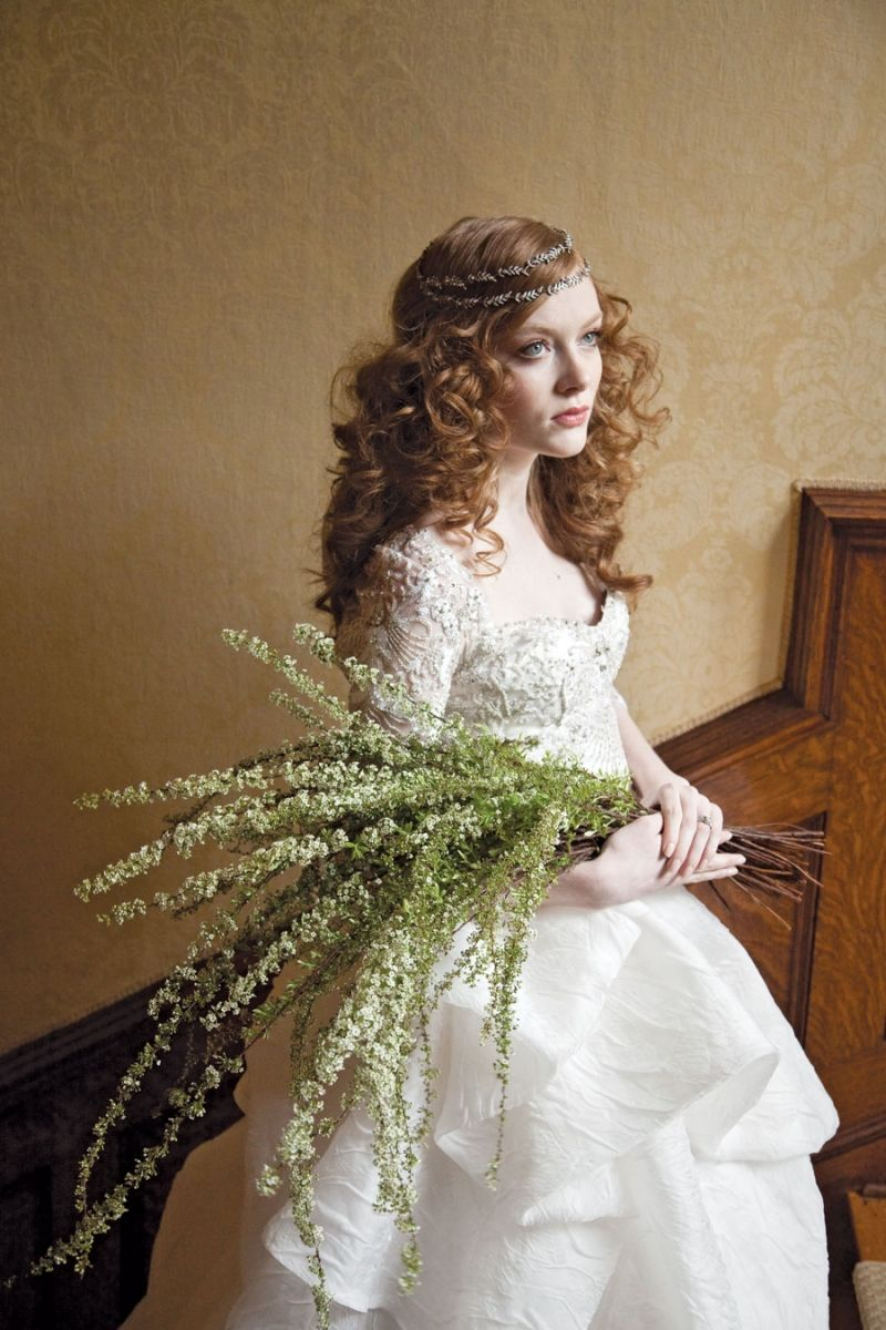 Bouquet of spirea by McKenzie Powell Floral and Event Design.