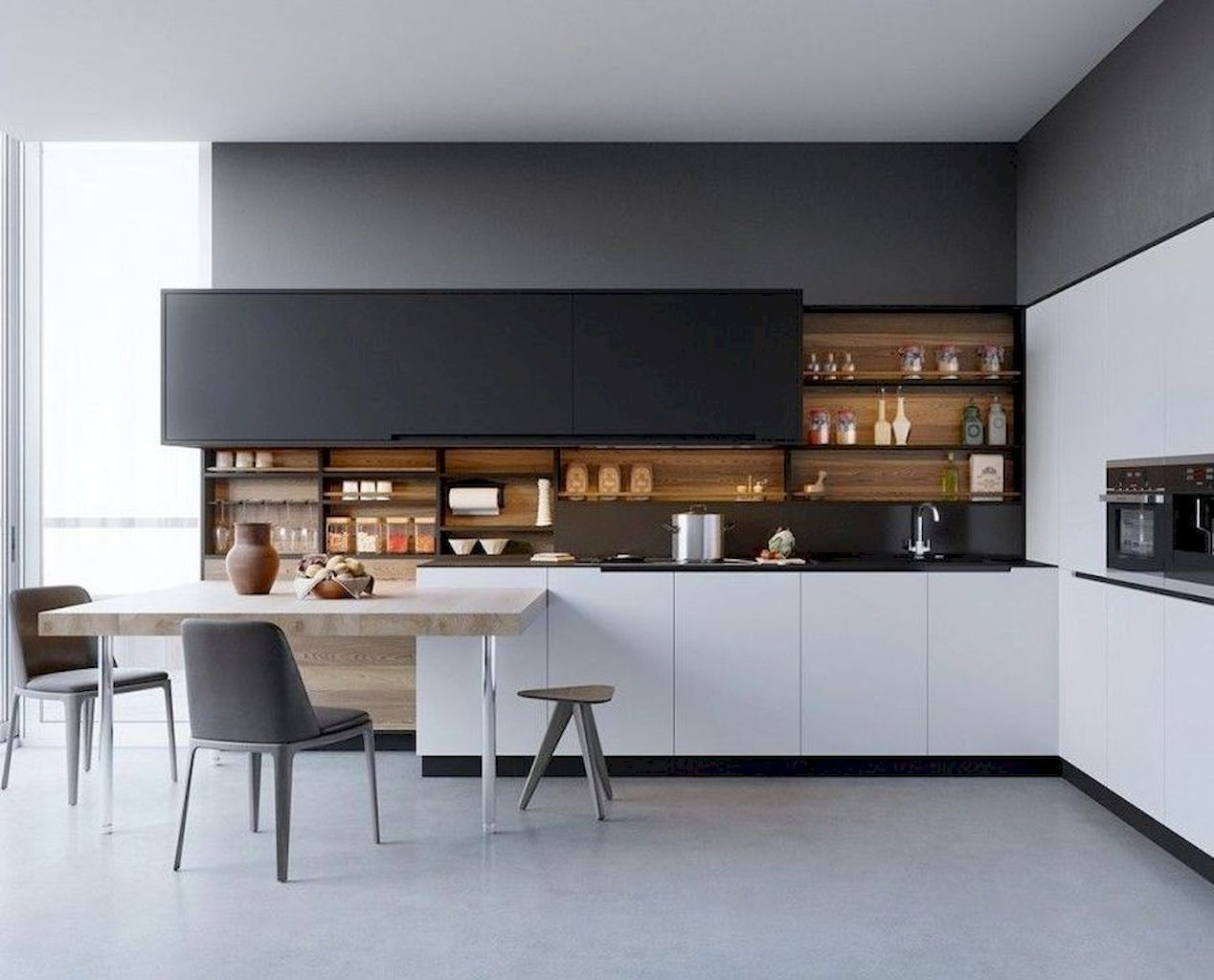 90 Elegant White Kitchen Cabinet Design Ideas White Modern
