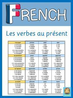 french les verbes conjugues au present