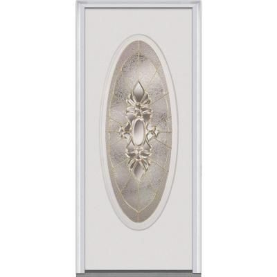 Milliken 32 In. X 80 In. Heirloom Master Decorative Glass Full Oval Lite  Primed