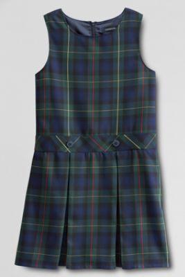 34be551660 School Uniform Girls' Uniform Plaid Jumper from Lands' End | School ...