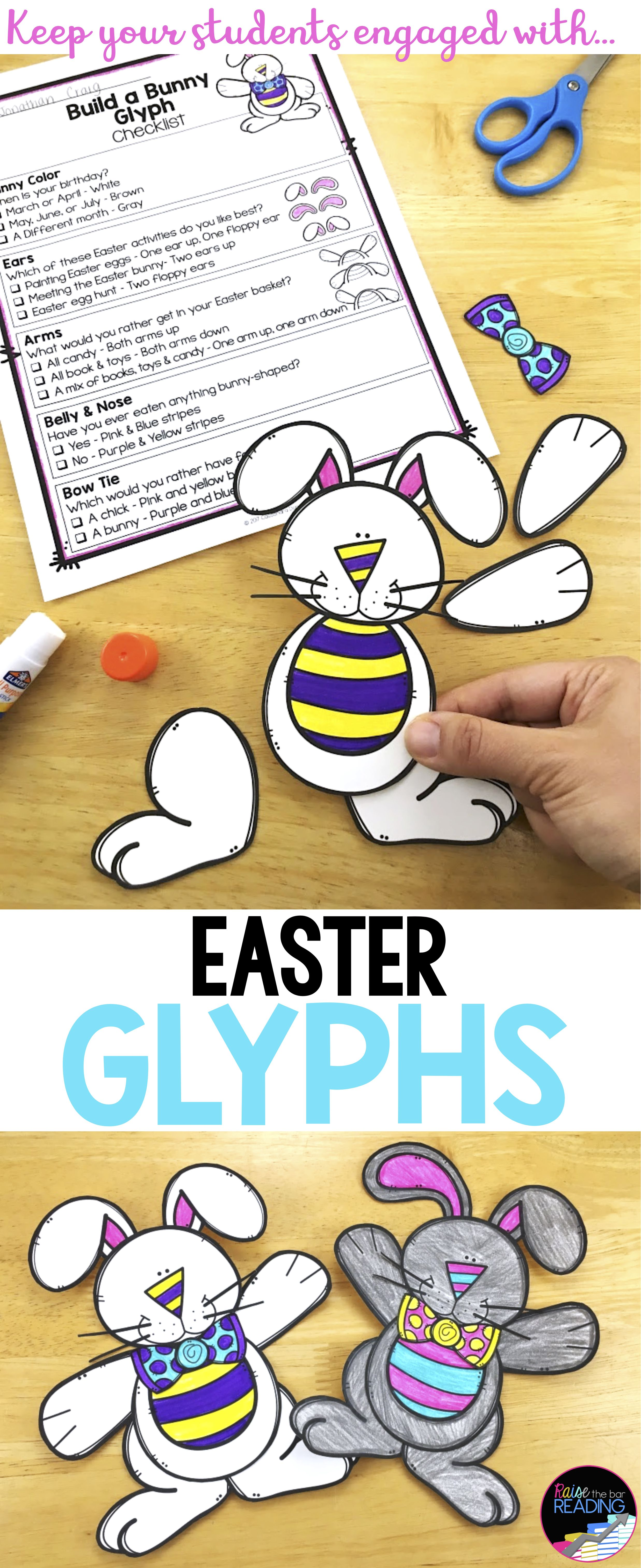 Easter Activities and Glyphs Easter Crafts Writing and more