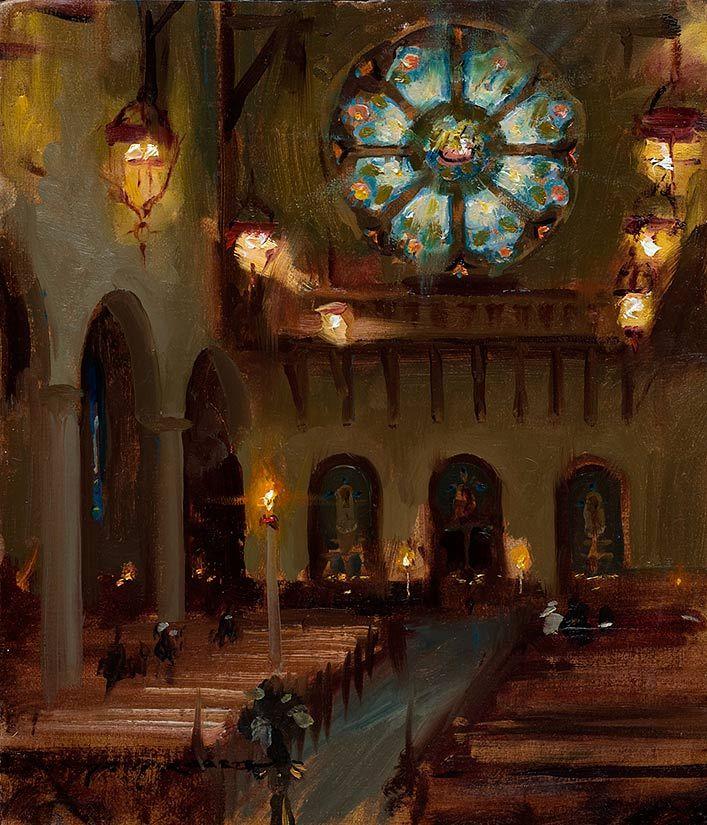 Interior Home Painting With Fine Interior Home Painting: Dan Gerhartz's Original Oil Paintings Of Church Interiors