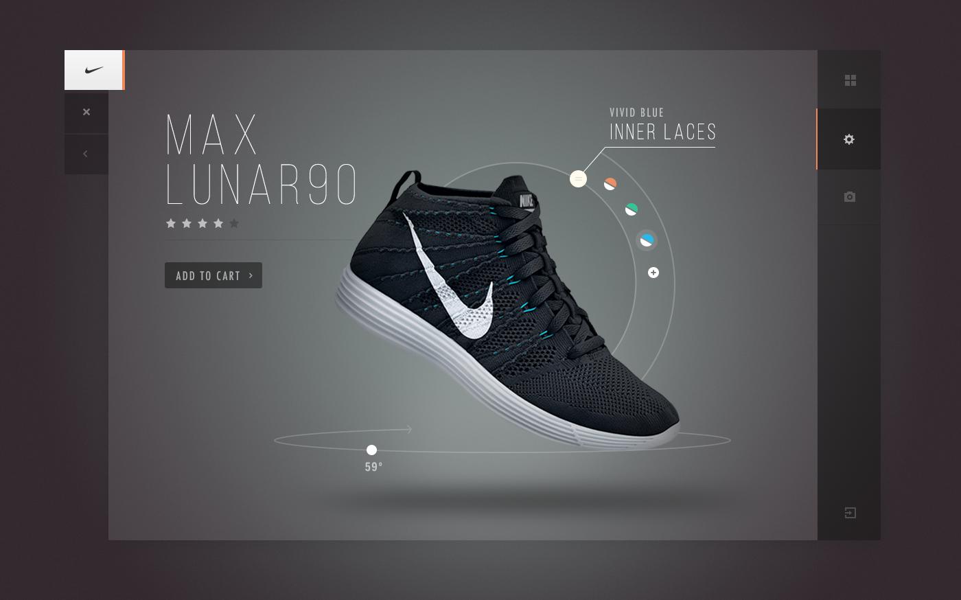 sports shoes 98b1b 4f8bd Nike 3D Interactive Shoe   Creative E-Commerce Product Page Web Design  Interaktives Design,