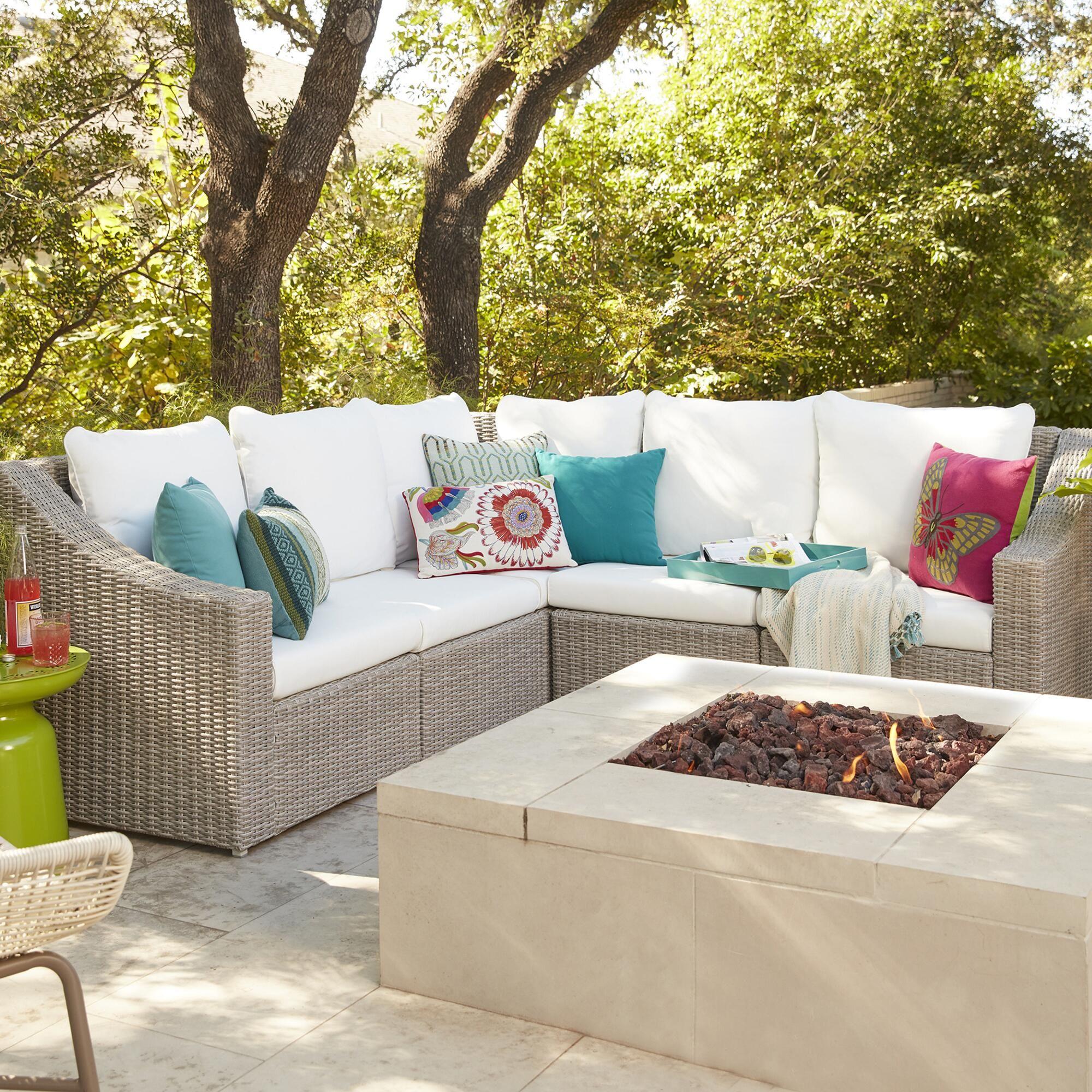 gray veracruz outdoor sectional sofa outdoor pinterest