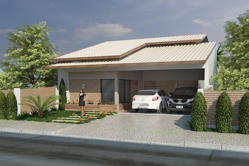 Casa para terreno de 10 por 20 metros bem interessante for Casa moderna 7x20