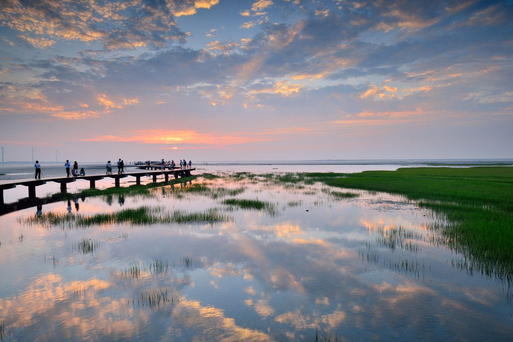 Sunset at Kaomei Wetland @高美溼地木棧道