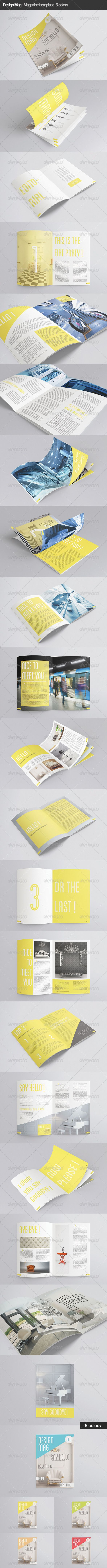 Design Mag 40 Pages InDesign Template Print by AuroreV In design