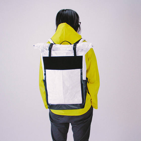 Rolltop Backpack Roll Top Backpack White Backpack Waterproof Backpack City Travel Backpack Lapt Top Backpacks Rolltop Backpack White Backpack