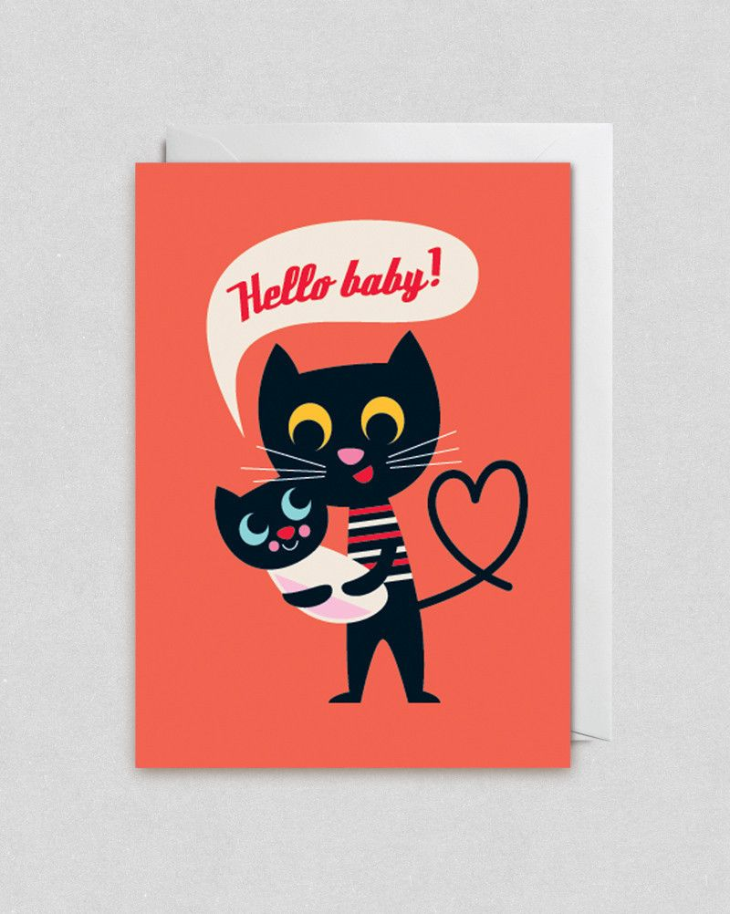 Hello Baby New Arrival Card By Lagom The Kid Who Cute A 2 50