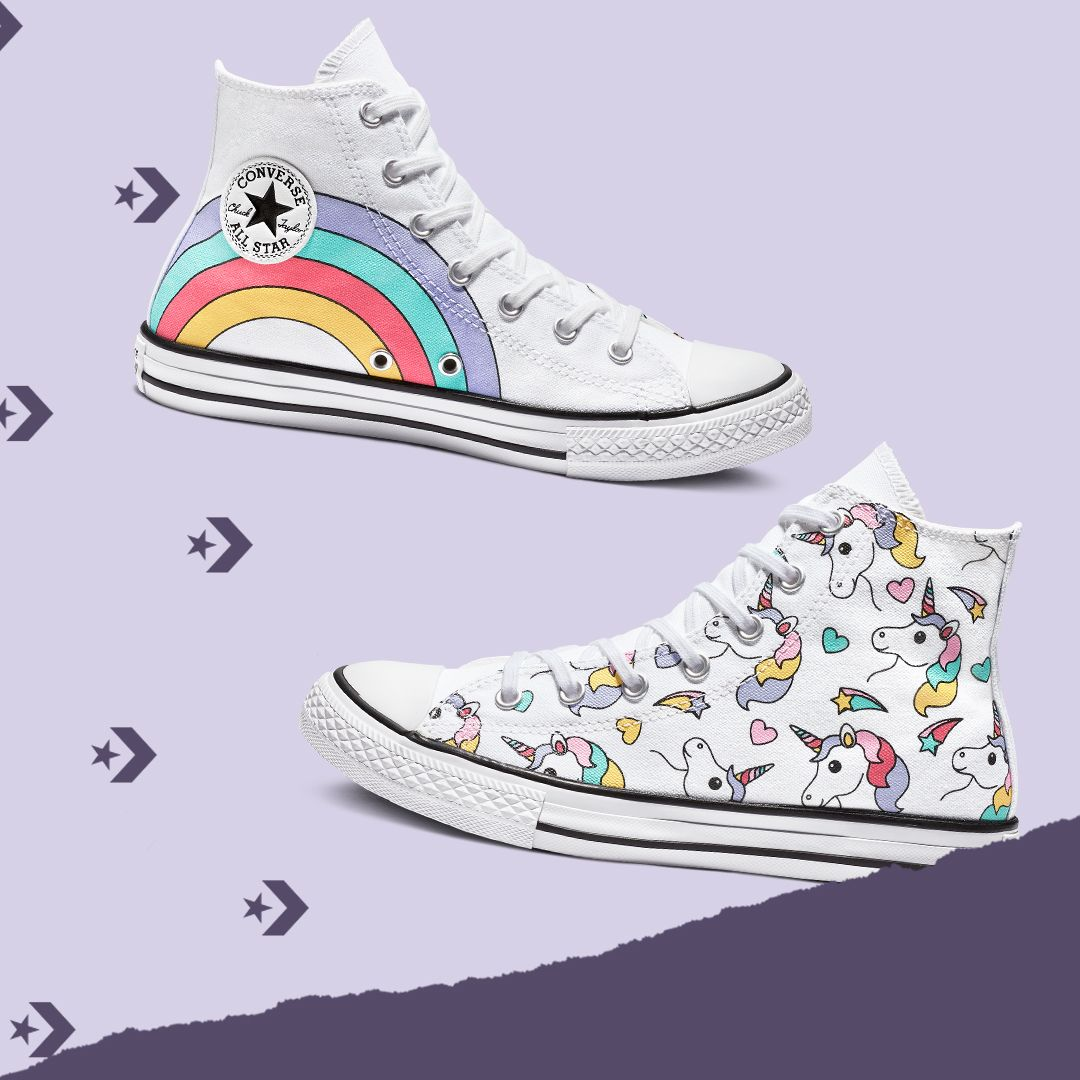 Kids Chuck Taylor All Star Unicorn High Top | Converse shoes for ...