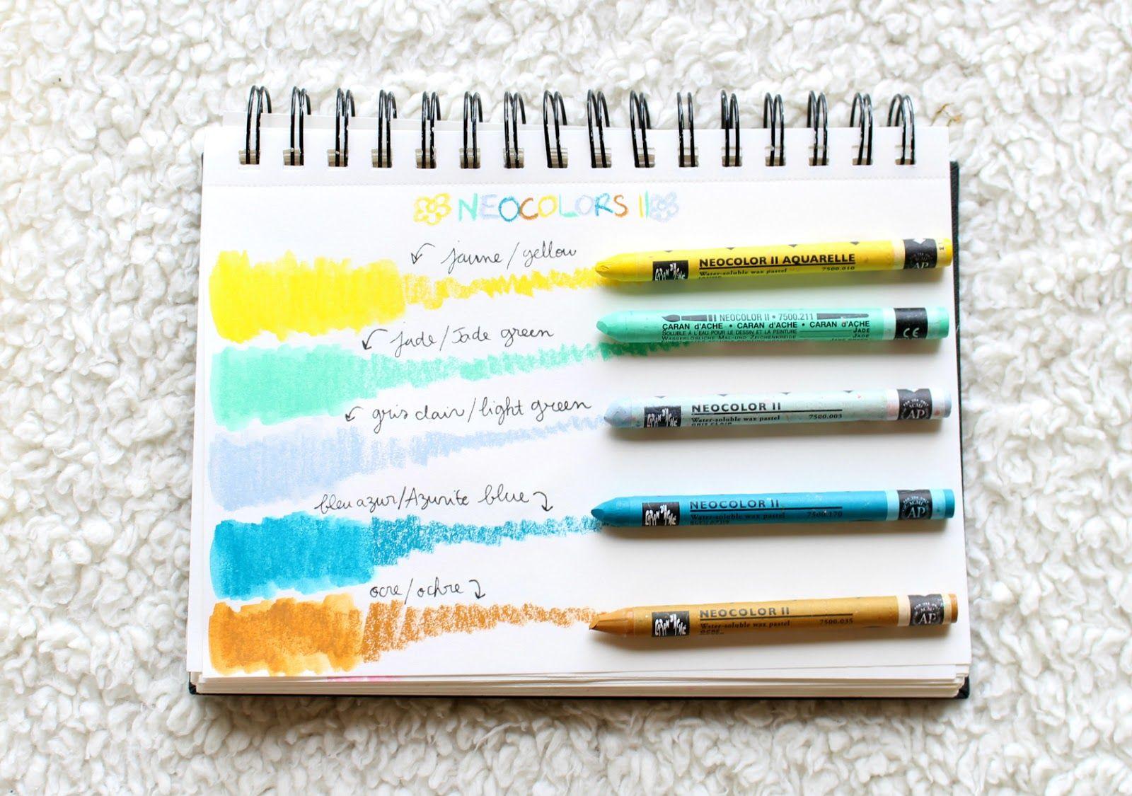 Le Petit Monde De Lea Gelatos Neocolors Crayons Aquarelle