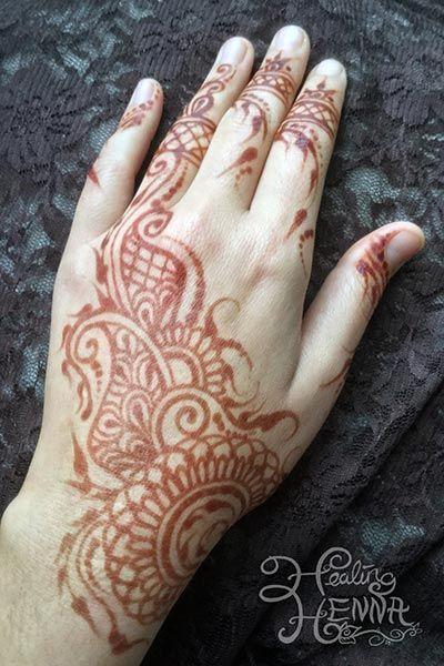 Brown Henna Tattoo: Henna Tattoo Hand Stain Results 48 Hours