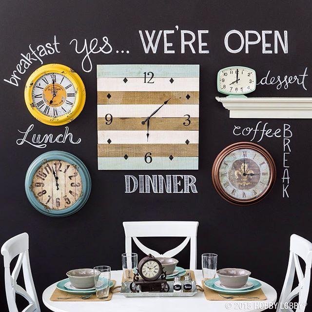 Gallery Wall of Clocks......