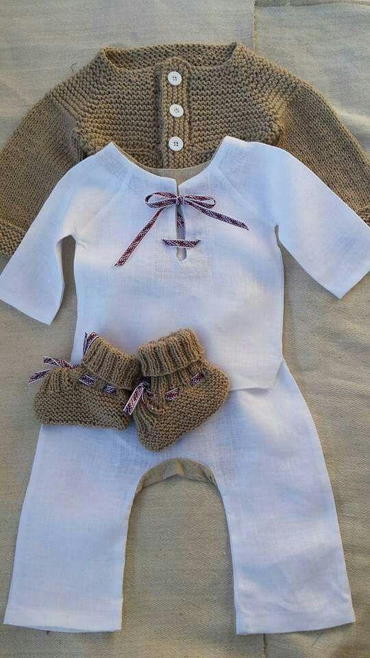 Boy dedication outfit. Linen& merino. Made by IRBE. #latvian #handmade