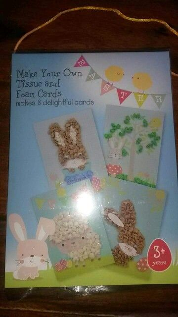 087a8c0a734 Use bits of screwed up tissue paper rolled into small balls and stuck down  to create fluffy bunnies and chicks for Easter cards.
