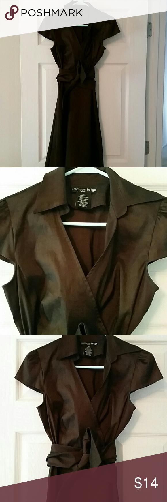 Madison leigh dark brown dress sleeve zippers and dark brown