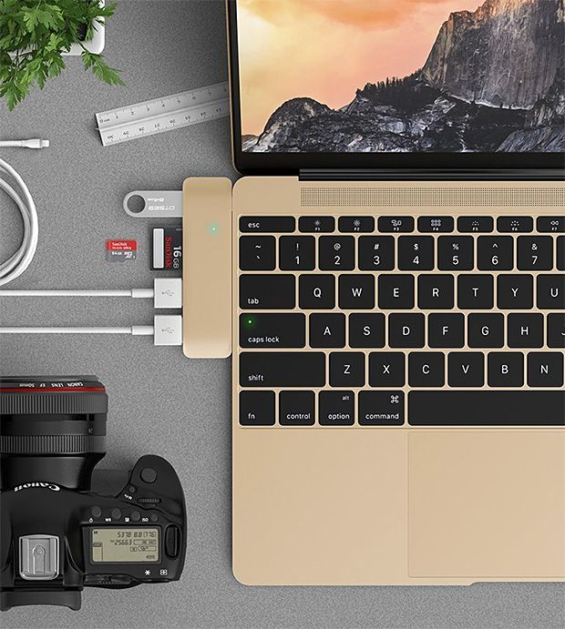 Satechi Type-C Hub for MacBook -- Here's a way to improve that 1-port 12-inch…