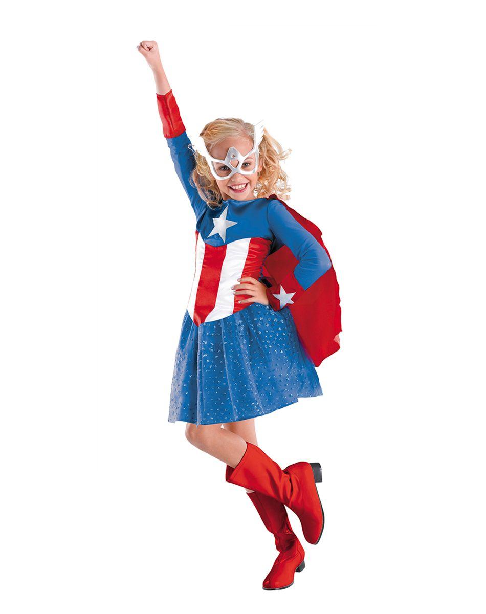 Girls Captain America Costume | Halloween | Pinterest | Captain ...