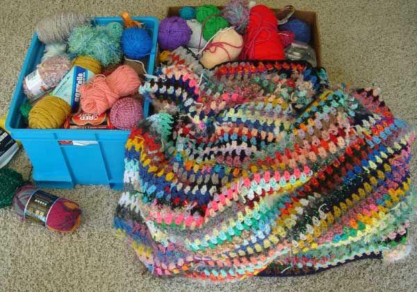 Fun Afghans From Scrap Yarn Crafts Crochet Pinterest