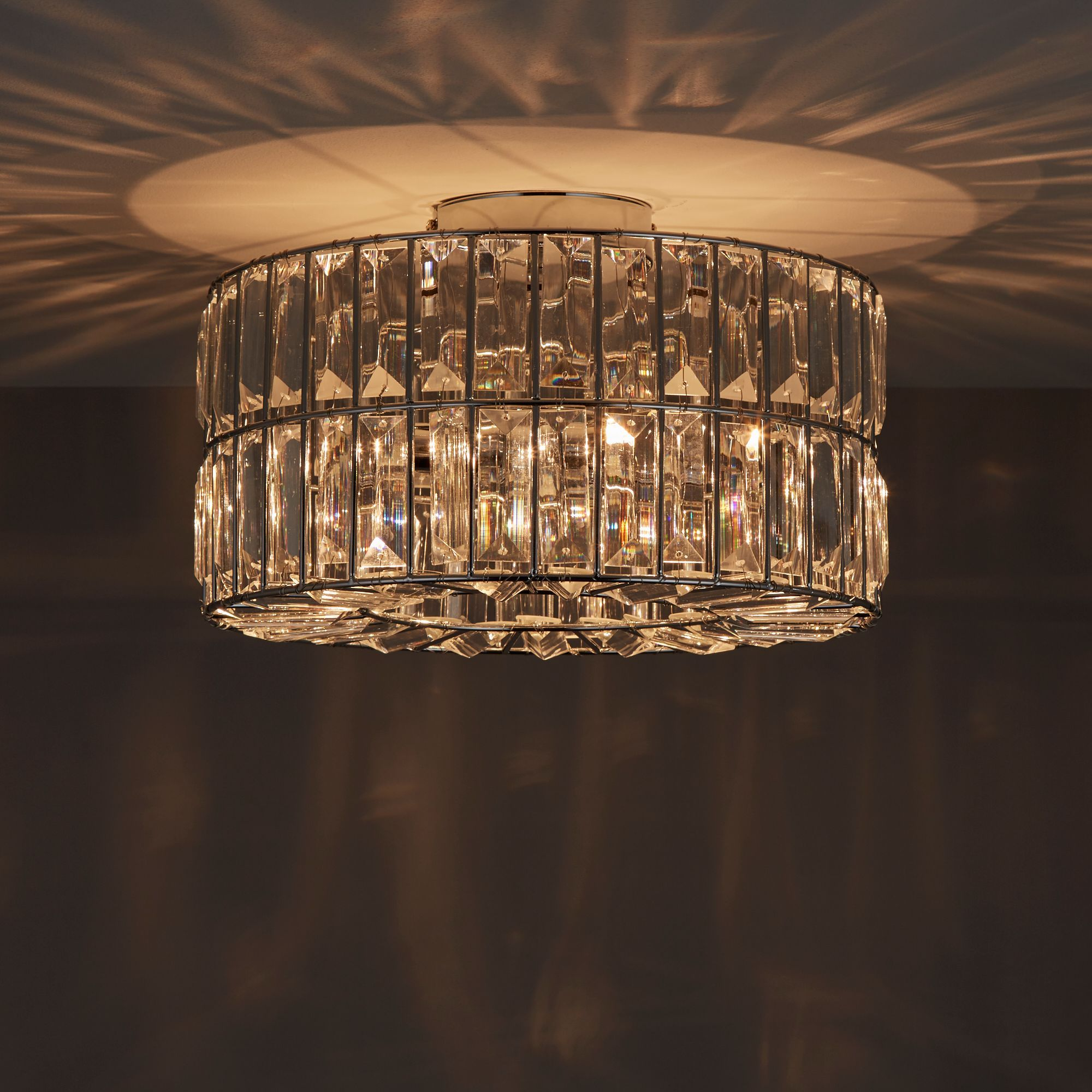 Parcae Chrome Effect 3 Lamp Ceiling Light In 2019 Ceiling