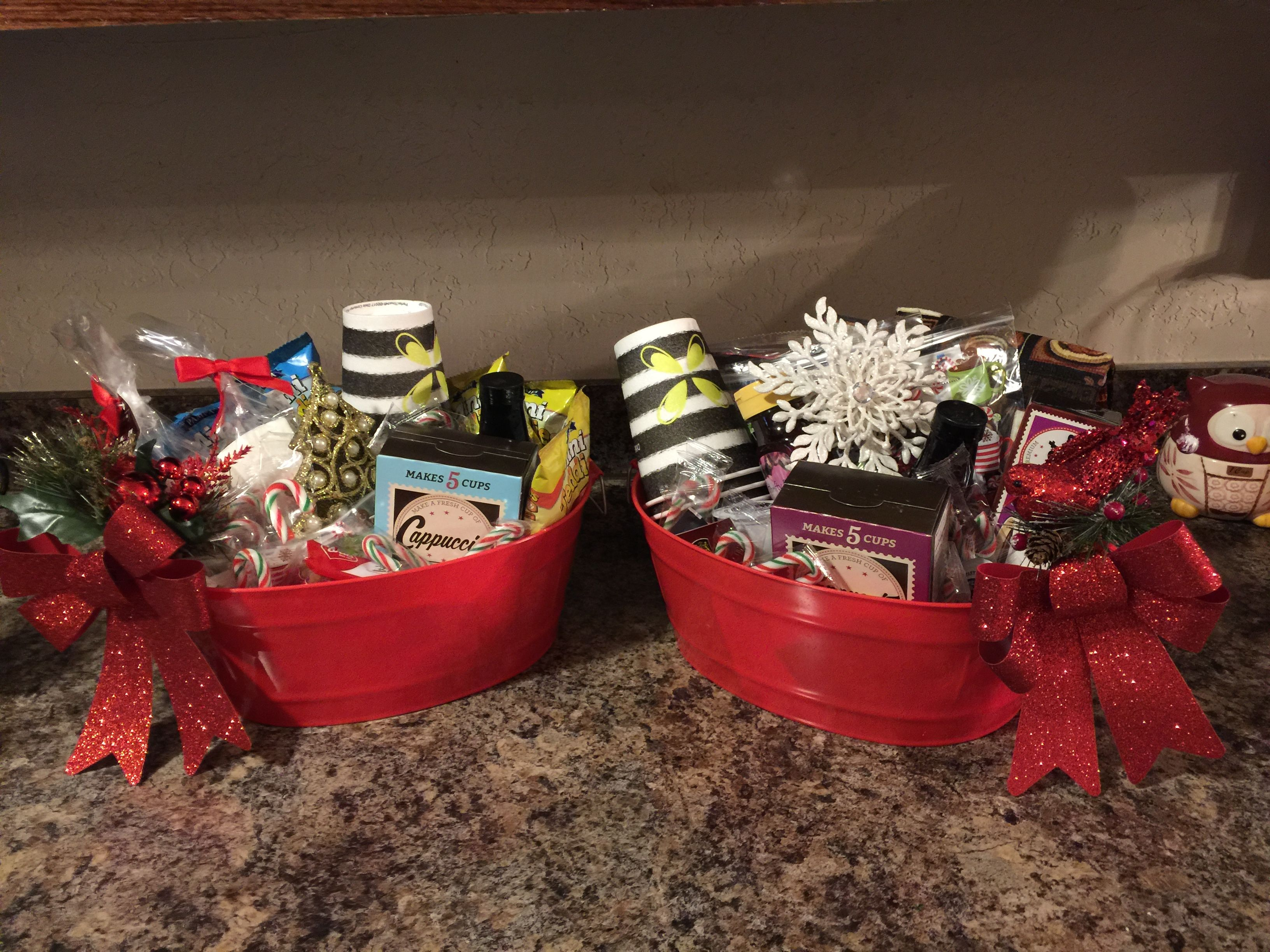 Coffee Gift Basket Idea Dollar Tree If You Need An Idea For A Gift Easy And Won T Break The Bu Coffee Gift Basket Coffee Gift Baskets Dollar Tree Christmas