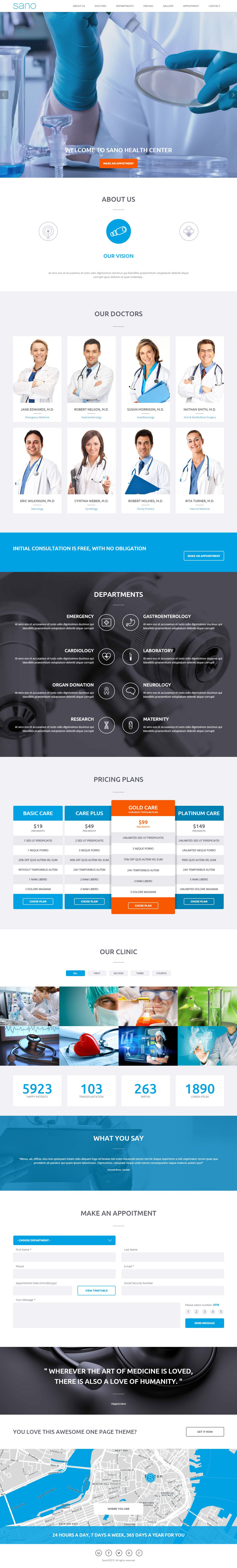 Sano Premium Responsive Medical HTML5 Template