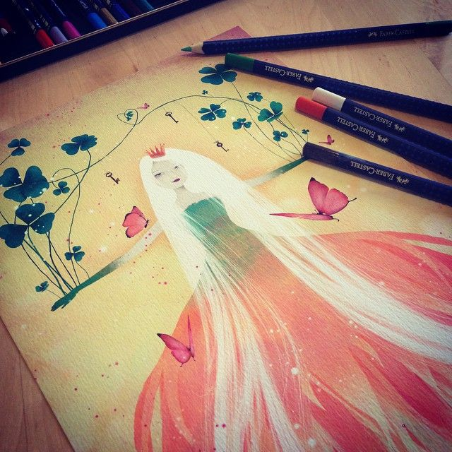 SnapWidget | Current work  #AnneJulieAubry #thenebulouskingdom #illustration #artoninstagram #clover #fairytale #butterfly #swoongalleryla #bloodletting