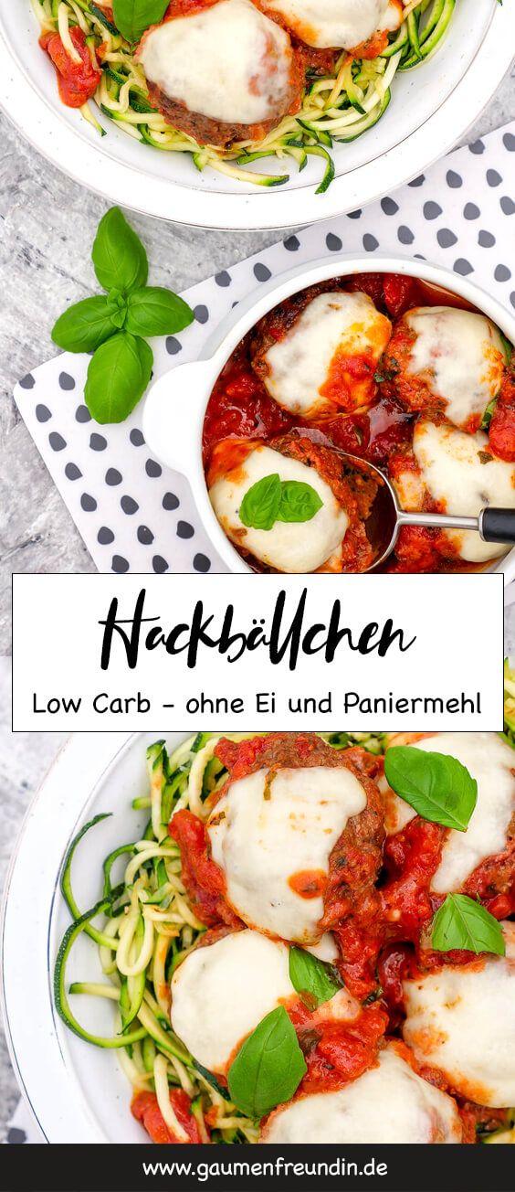 Low Carb Hackbällchen mit getrockneten Tomaten - ohne Ei & Paniermehl