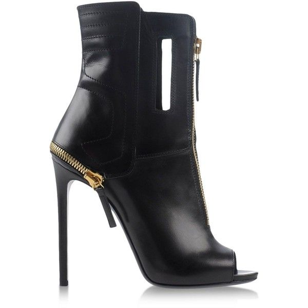 Gianmarco Lorenzi Ankle Boots ($403) ❤ liked on Polyvore featuring shoes, boots, ankle booties, heels, black, short black boots, short boots, black bootie, cutout booties and ankle boots