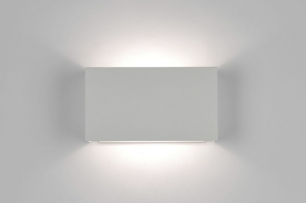 Applique murale moderne design blanc mat LampDecke