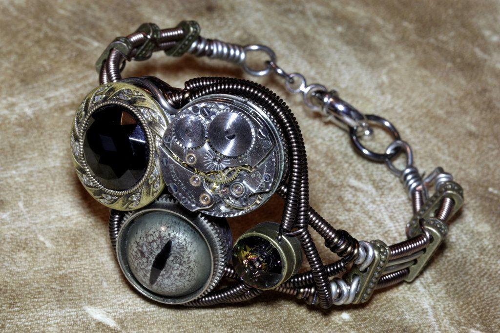 Steampunk Bracelets Bracelet Steam Punk By Catherinetterings