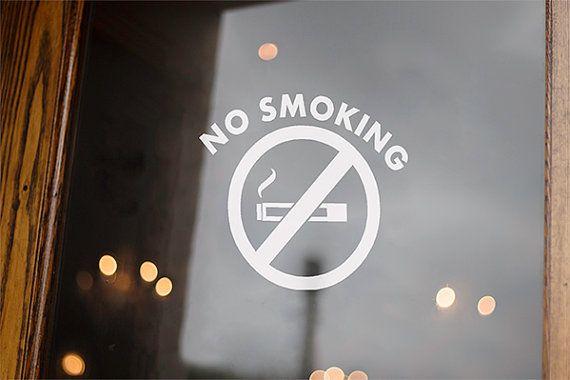 No Smoking Sign No Smoking Stickers Office Door Decal Sign - Window decals for office doors