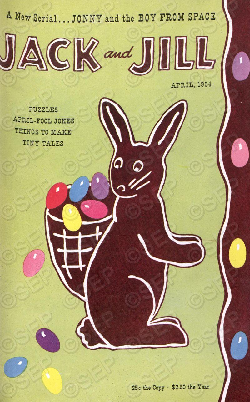 Vintage Jack and Jill Easter Cover April 1954 Easter