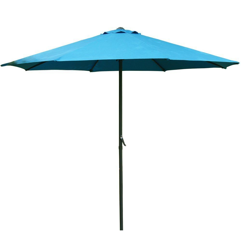 9 foot patio market umbrella polyester crank aluminum beach canopy